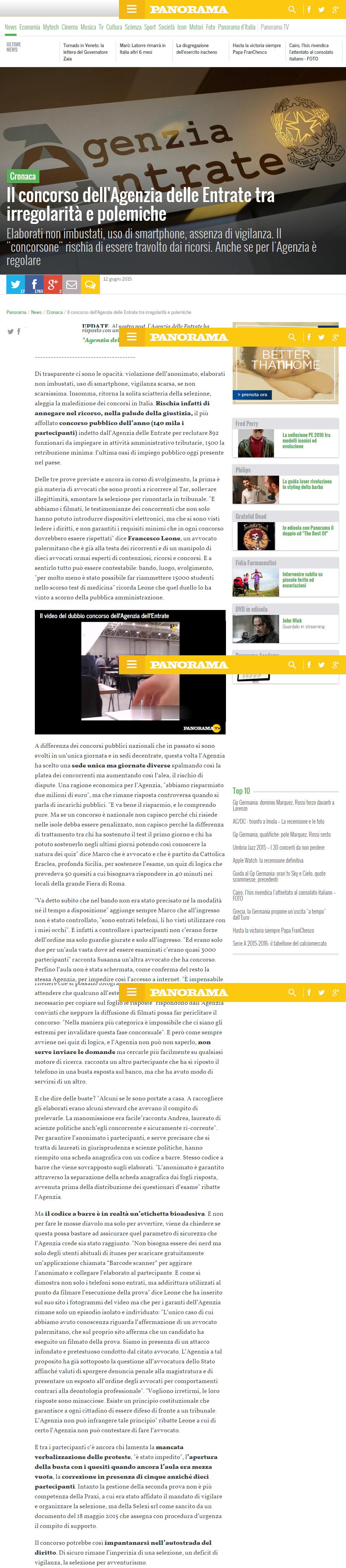Il concorso dell Agenzia delle Entrate tra irregolarità e polemiche   Panorama