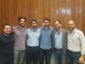 Nella foto, l'Avvocato Leone con i rappresentanti delle Associazioni Run, Coordinamento UniAttiva, Nuova Realtà Giovanile, Vivere Ateneo.