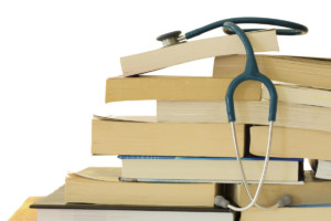 Stethoscope with Text Books