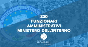 250 funzionari amministrativi
