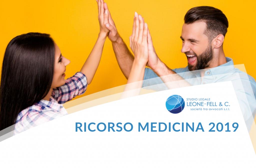 ricorso medicina 2019