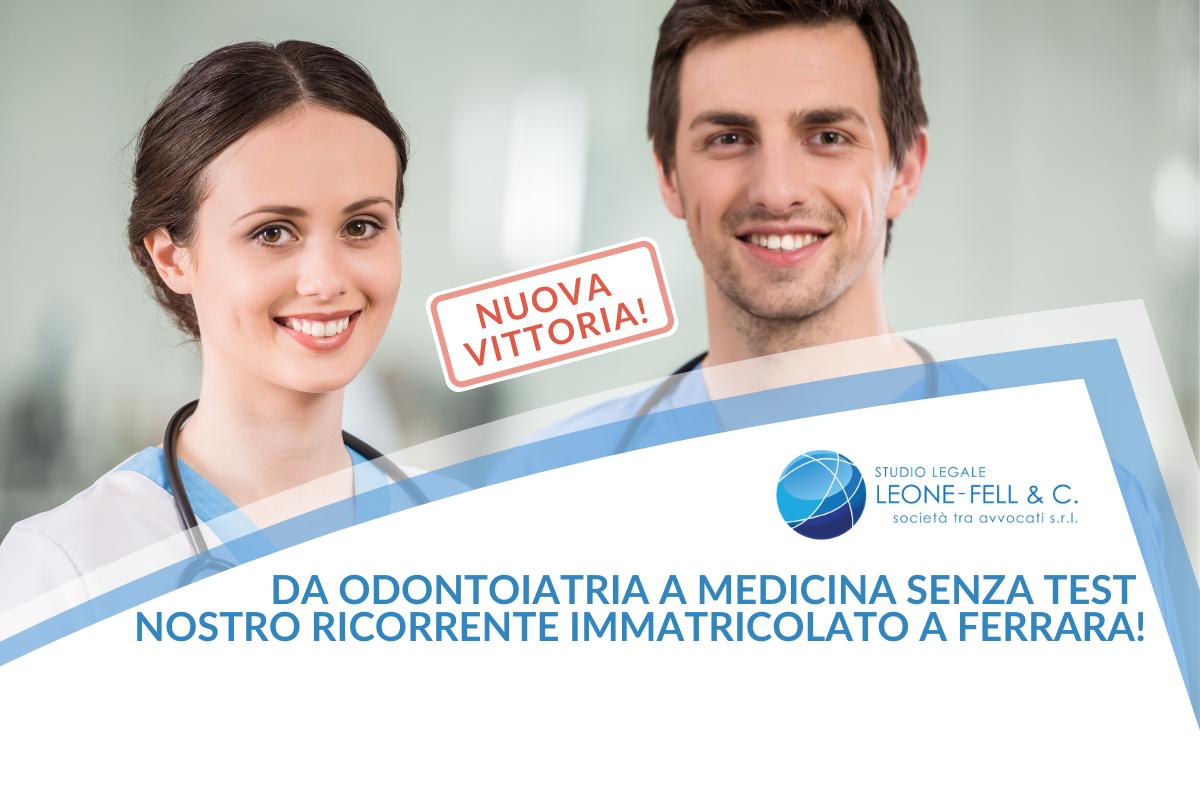 da Odontoiatria a medicina