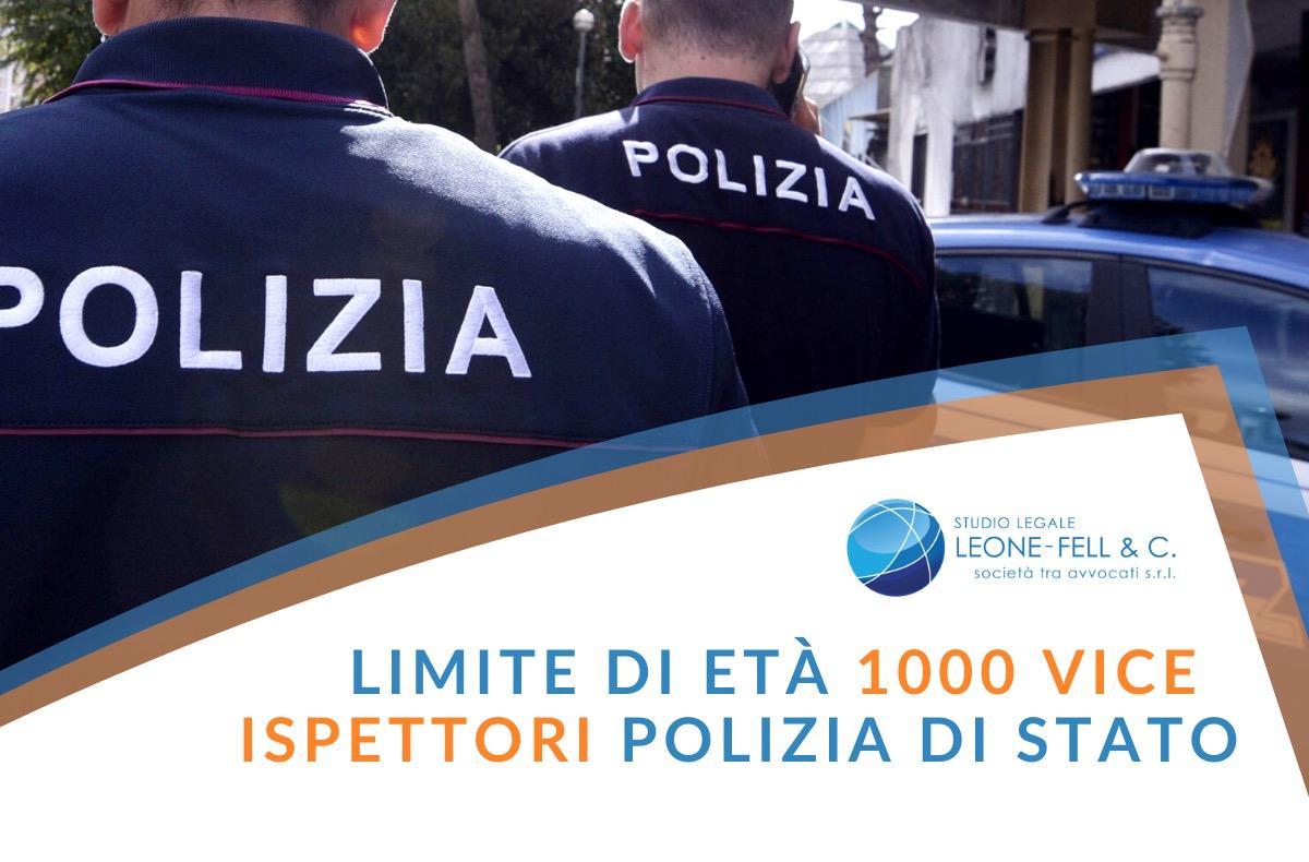 1.000 vice ispettori di polizia