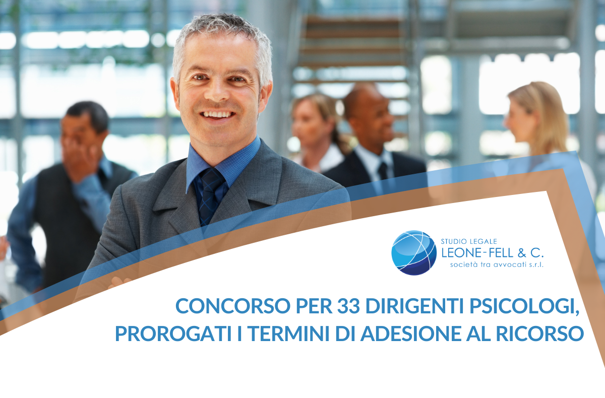 33 dirigenti psicologi