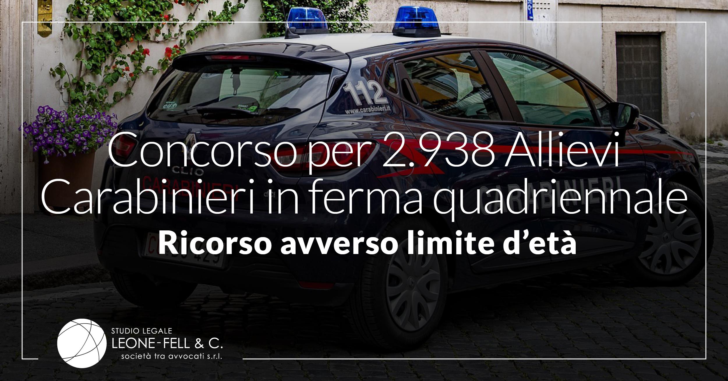 2.938 allievi carabinieri