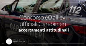 60 allievi ufficiali carabinieri